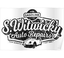 Witwicky's Auto Garage (black design) Poster