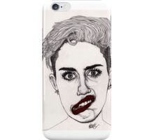 Miley with Red Lips iPhone Case/Skin
