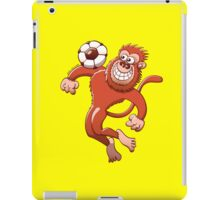 Monkey Trapping a Soccer Ball with its Chest iPad Case/Skin