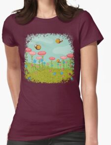 Summer landscape  Womens Fitted T-Shirt
