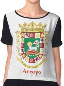 Arroyo Shield of Puerto Rico Chiffon Top