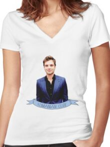Romanian Angel Women's Fitted V-Neck T-Shirt