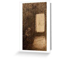 Alone in a dark room Greeting Card