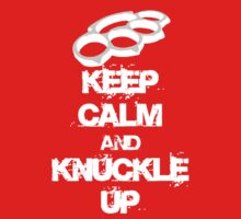 Keep Calm And Knuckle Up Streetfighter Shirt by DetonationCloth