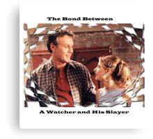 Buffy Giles Watchers Love Canvas Print