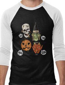 Say You Love Satan 80s Horror Podcast Logo 2 Men's Baseball ¾ T-Shirt