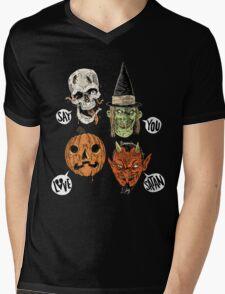 Say You Love Satan 80s Horror Podcast Logo 2 Mens V-Neck T-Shirt