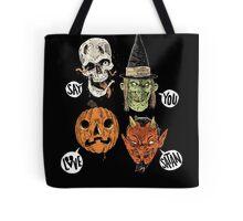 Say You Love Satan 80s Horror Podcast Logo 2 Tote Bag