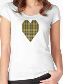 02867 Gaston County, North Carolina Tartan  Women's Fitted Scoop T-Shirt