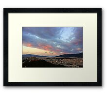 Colours in the Clouds Framed Print