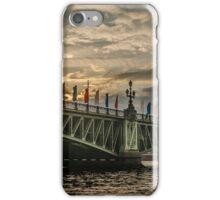 Sunset over Trinity Bridge, Saint Petersburg iPhone Case/Skin