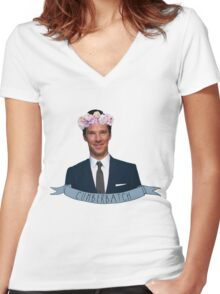 Benny! Women's Fitted V-Neck T-Shirt