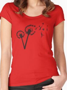 Dandylion Flight Women's Fitted Scoop T-Shirt