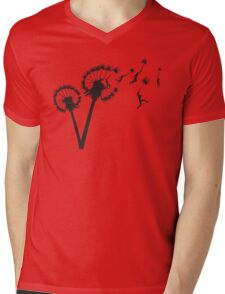 Dandylion Flight Mens V-Neck T-Shirt