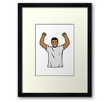 successful winner Framed Print