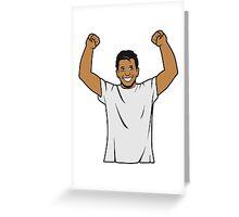 successful winner Greeting Card