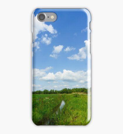 Hollands landschap met boeren sloot iPhone Case/Skin