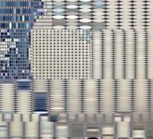Data Tidal Wave Generative Algorithmic Art Sticker