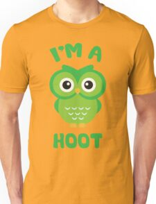 I'm A Hoot (Cute Green Owl) Unisex T-Shirt