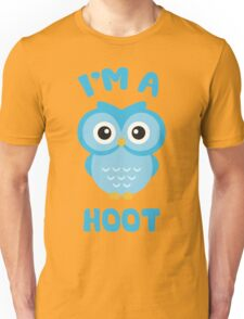 I'm A Hoot (Cute Blue Owl) Unisex T-Shirt