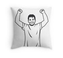 successful winner Throw Pillow