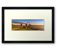 Fehmarnsund Bridge - Panorama  Framed Print