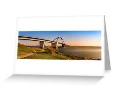 Fehmarnsund Bridge - Panorama  Greeting Card