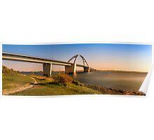 Fehmarnsund Bridge - Panorama  Poster