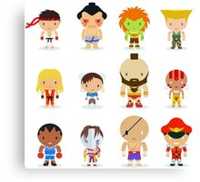 Street fighter - the world warrior Canvas Print