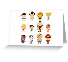 Street fighter - the world warrior Greeting Card