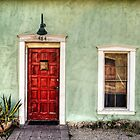 Red Door and Window by Ken Smith
