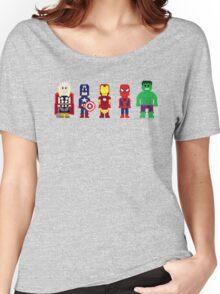 8-Bit Super Heroes! Women's Relaxed Fit T-Shirt