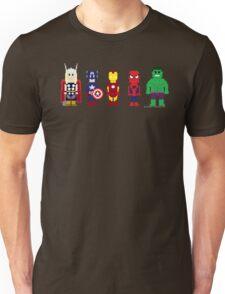 8-Bit Super Heroes! Unisex T-Shirt