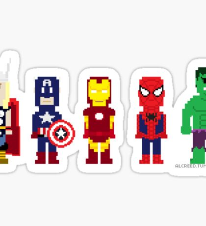 8-Bit Super Heroes! Sticker