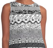 TOP - Blurryface Pattern Collage Contrast Tank