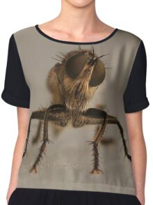 the fly, insect macro Chiffon Top