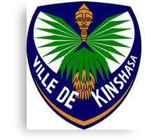 Coat of Arms of Kinshasa Canvas Print