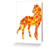 Warm coloured dotted horse Greeting Card