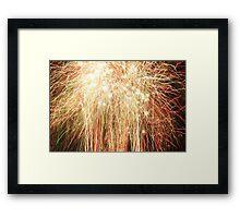 Bright fireworks Framed Print