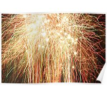 Bright fireworks Poster