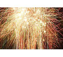 Bright fireworks Photographic Print