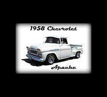 1958 Chevrolet Apache iPad Case by Betty Northcutt