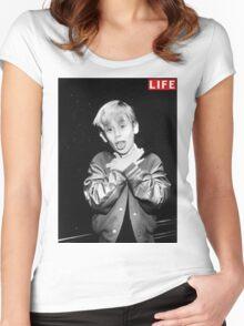 Macaulay Culkin Life Tshirt Women's Fitted Scoop T-Shirt