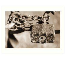 The Rusted Lock Art Print