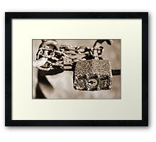 The Rusted Lock Framed Print