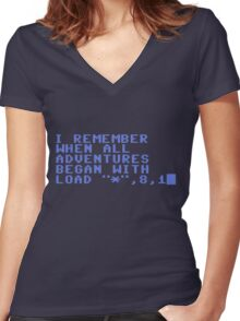 C64 Retro Women's Fitted V-Neck T-Shirt