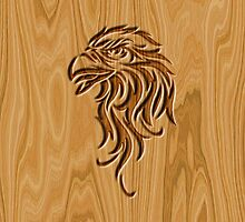 Eagle Head ~ Wood Carved by vikaze