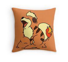 Growlithe Use Tackle! Throw Pillow