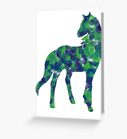 Cold dotted horse Greeting Card