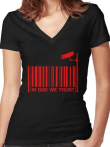 In God We Trust #4 Women's Fitted V-Neck T-Shirt